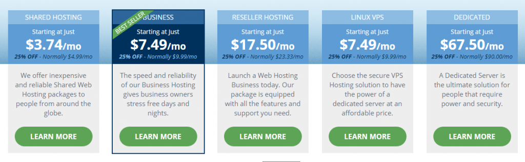 hostwinds plans and prices