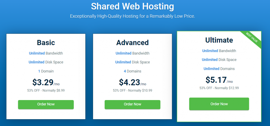 host windsshared hosting