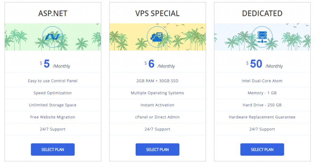 Intereserver VPS hosting and dedicated prices