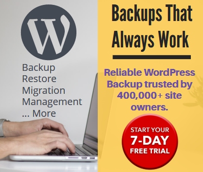 WordPress Backup and restore